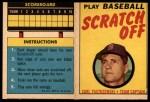 1970 Topps Scratch Offs #24  Carl Yastrzemski  Front Thumbnail
