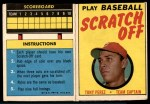 1970 Topps Scratch Offs #16  Tony Perez  Front Thumbnail