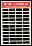 1970 Topps Scratch Offs #19  Tom Seaver  Back Thumbnail