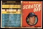 1970 Topps Scratch Offs #15  Claude Osteen    Front Thumbnail