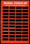 1971 Topps Scratch Offs #11  Harmon Killebrew   Back Thumbnail