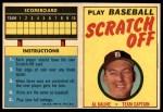 1971 Topps Scratch Offs #10  Al Kaline  Front Thumbnail