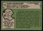 1978 Topps #310  Dan Dierdorf  Back Thumbnail