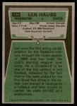 1975 Topps #134  Len Hauss  Back Thumbnail