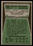 1975 Topps #464  Golden Richards  Back Thumbnail