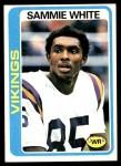 1978 Topps #30  Sammie White  Front Thumbnail