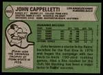 1978 Topps #453  John Cappelletti  Back Thumbnail