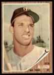 1962 Topps #180 GRN Bob Allison  Front Thumbnail