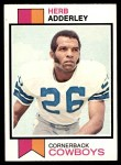 1973 Topps #243  Herb Adderley  Front Thumbnail