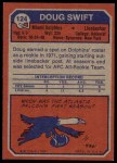 1973 Topps #124  Doug Swift  Back Thumbnail
