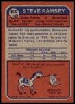 1973 Topps #189  Steve Ramsey  Back Thumbnail