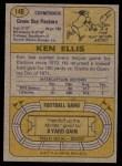 1974 Topps #140   -  Ken Ellis  All-Pro Back Thumbnail