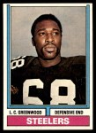 1974 Topps #496  L.C. Greenwood  Front Thumbnail
