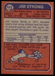 1973 Topps #523  Jim Strong  Back Thumbnail