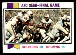 1973 Topps #136   -  Bob Griese / Larry Csonka / Jim Kiick AFC Semi-Final Front Thumbnail