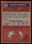 1973 Topps #482  Nate Ramsey  Back Thumbnail