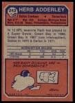 1973 Topps #243  Herb Adderley  Back Thumbnail