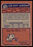 1973 Topps #159  Lee Roy Jordon  Back Thumbnail