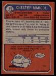 1973 Topps #180  Chester Marcol  Back Thumbnail