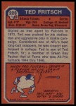 1973 Topps #223  Ted Fritsch Jr.  Back Thumbnail