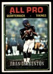 1974 Topps #129   -  Fran Tarkenton All-Pro Front Thumbnail