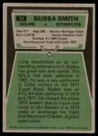1975 Topps #33  Bubba Smith  Back Thumbnail