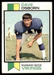 1973 Topps #176  Dave Osborn  Front Thumbnail