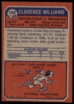 1973 Topps #109  Clarence Williams  Back Thumbnail