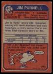 1973 Topps #447  Jim Purnell  Back Thumbnail