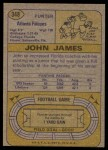 1974 Topps #348  John James  Back Thumbnail