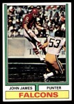 1974 Topps #348  John James  Front Thumbnail
