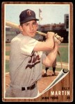 1962 Topps #208  Billy Martin  Front Thumbnail