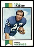 1973 Topps #380  Paul Krause  Front Thumbnail