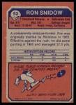 1973 Topps #53  Ron Snidow  Back Thumbnail