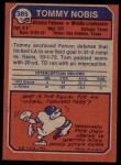 1973 Topps #385  Tommy Nobis  Back Thumbnail