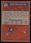 1973 Topps #311  John Garlington  Back Thumbnail