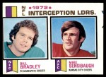 1973 Topps #5   -  Bill Bradley / Mike Sensibaugh Interception Leaders Front Thumbnail