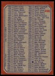 1973 Topps #498   Checklist 397-528 Back Thumbnail