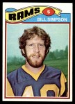 1977 Topps #406  Bill Simpson  Front Thumbnail