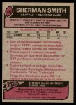 1977 Topps #337  Sherman Smith  Back Thumbnail