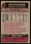 1977 Topps #402  Willie Buchanon  Back Thumbnail
