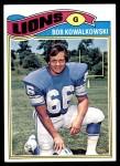 1977 Topps #344  Bob Kowalkowski  Front Thumbnail