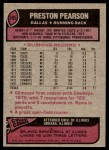 1977 Topps #395  Preston Pearson  Back Thumbnail
