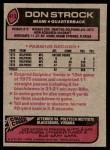 1977 Topps #413  Don Strock  Back Thumbnail