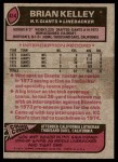 1977 Topps #414  Brian Kelley  Back Thumbnail