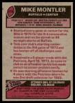 1977 Topps #416  Mike Montler  Back Thumbnail