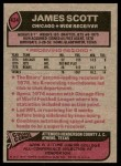 1977 Topps #424  James Scott  Back Thumbnail