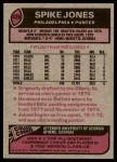 1977 Topps #426  Spike Jones  Back Thumbnail
