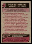 1977 Topps #441  Doug Sutherland  Back Thumbnail