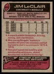 1977 Topps #449  Jim LeClair  Back Thumbnail